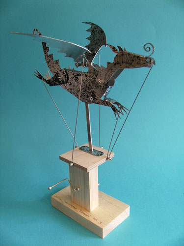 Flying Dragon Black And Silver By Keith Newstead