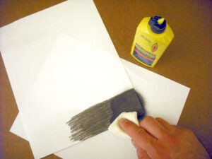 Graphite from a pencil and lighter fluid can be used to make homemade carbon paper
