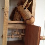 Pippin Oak Stable with Squeeky Bird by Lisa Slater