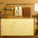 Various tools and materials for soldering brass rod, tubing, bar, and sheets