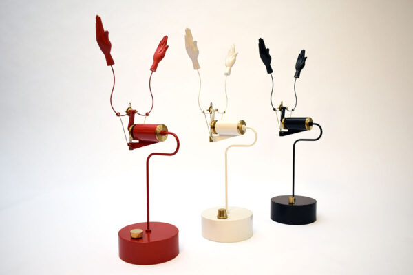Mechanical Clapping Hands in Red White & Black