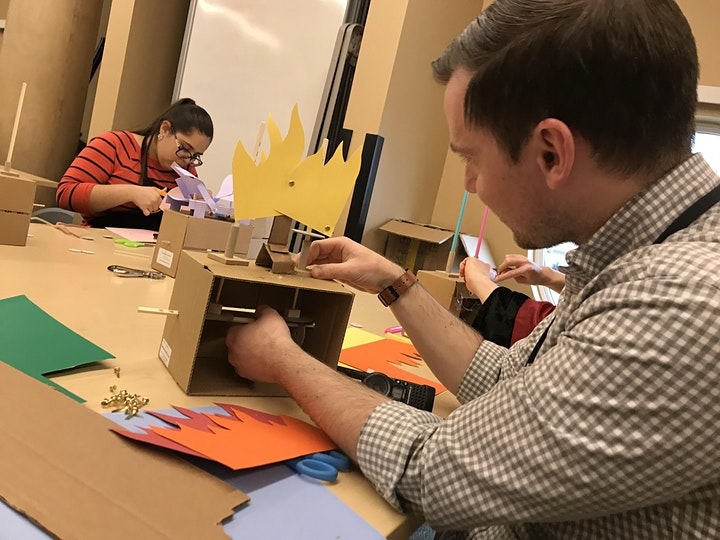 Building cardboard automata
